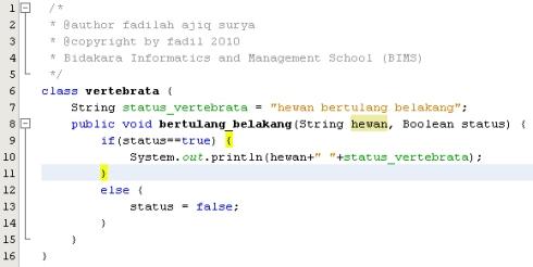 Class vertebrata - Class induk